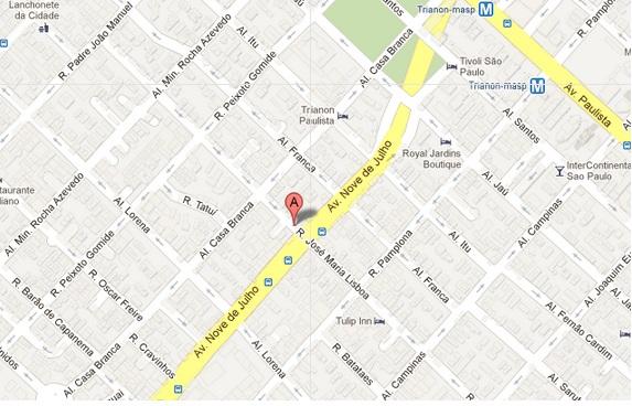 Mapa Cafe da Casa
